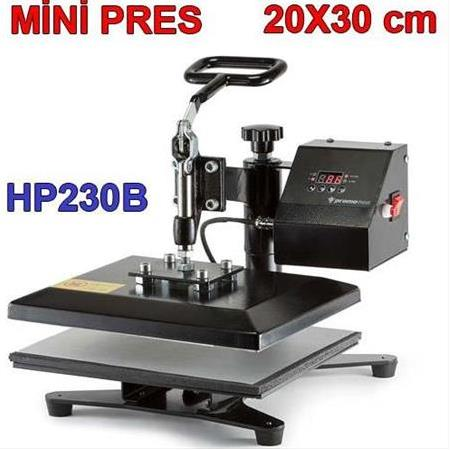 HP230B Mini Transfer Baskı Presi (20x30)Cm